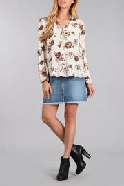 Blu Pepper Floral V Neck Blouse - Product Mini Image