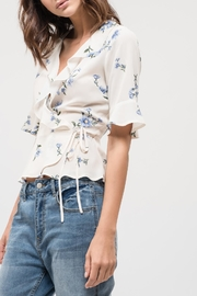Blu Pepper Floral Wrap Top - Side cropped