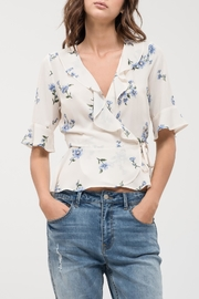 Blu Pepper Floral Wrap Top - Product Mini Image