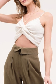 Blu Pepper Front-Twist Cropped Cami - Front full body