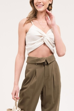 Blu Pepper Front-Twist Cropped Cami - Product List Image