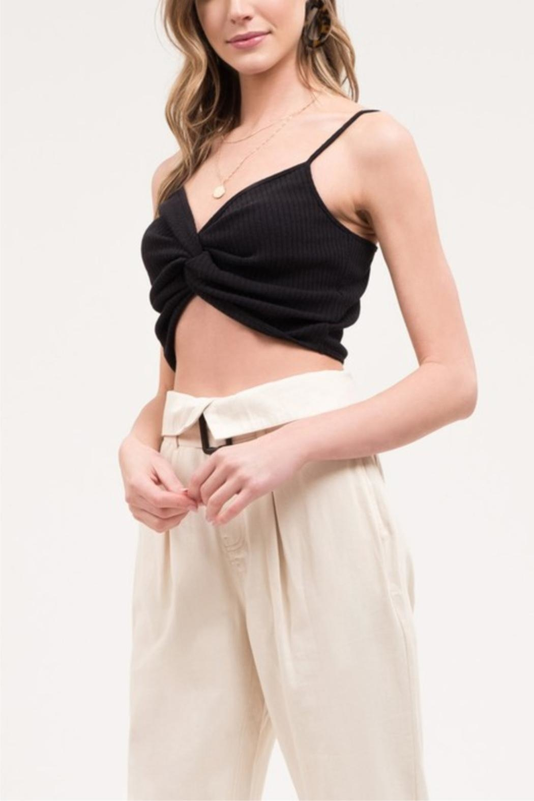 Blu Pepper Front-Twist Cropped Cami - Back Cropped Image