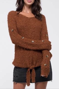 Blu Pepper Fuzzy Knit Sweater - Product List Image