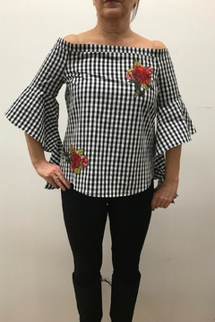 Blu Pepper Gingham Top - Product List Image