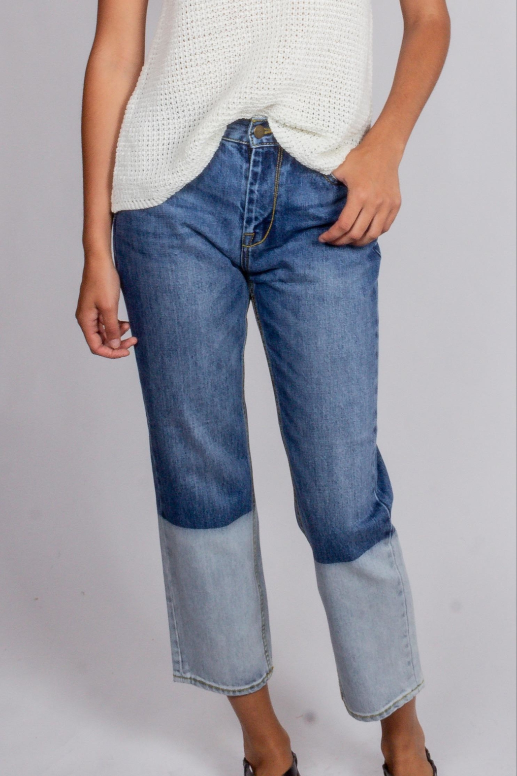 Blu Pepper Groovy Denim Pants - Front Cropped Image