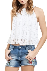 Blu Pepper Eyelet Halter Top - Front cropped