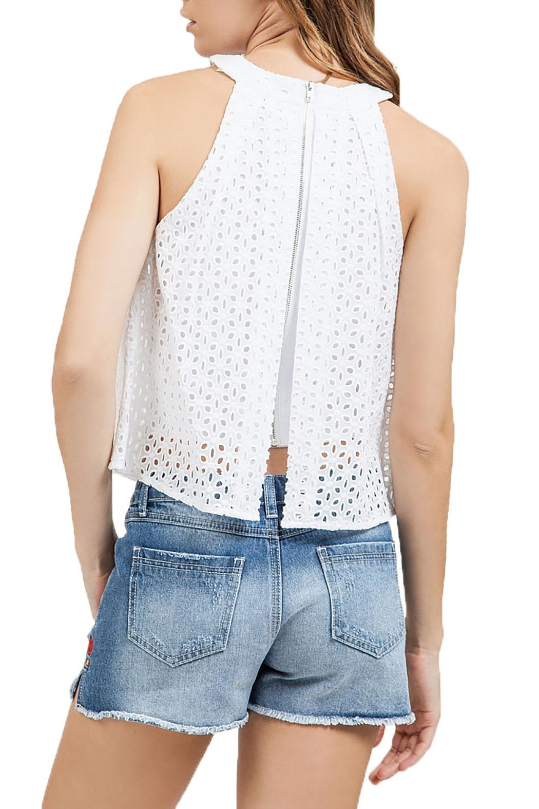 Blu Pepper Eyelet Halter Top - Side Cropped Image