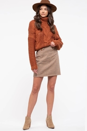 Blu Pepper Houndstooth Mini Skirt - Front cropped