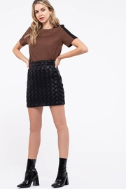 Blu Pepper Houndstooth Top - Front cropped