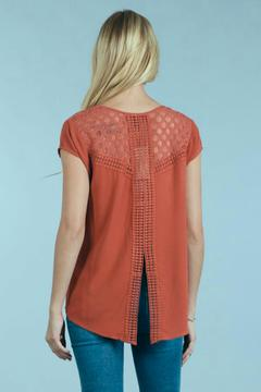 Shoptiques Product: Inlay Puckered Top