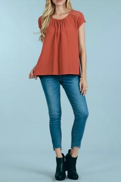 Sweet Wanderer by Blue Pepper Inlay Puckered Top - Product List Image