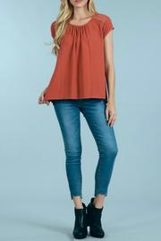 Sweet Wanderer by Blue Pepper Inlay Puckered Top - Product Mini Image