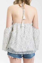 Blu Pepper Lace Floral Halter - Front full body