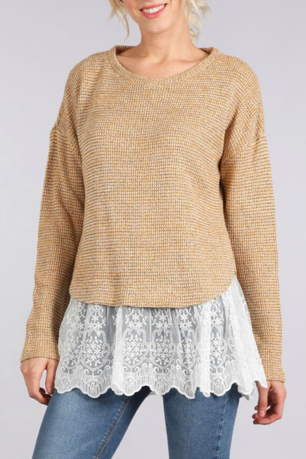 Blu Pepper Lace Hem Sweater from Illinois by The Colette ...