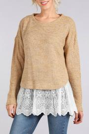 Blu Pepper Lace Hem Sweater - Product Mini Image