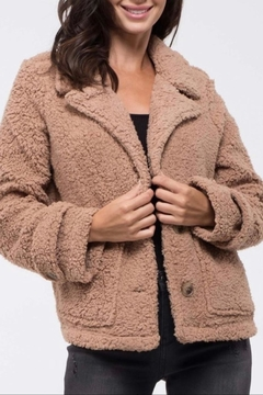Blu Pepper Lapel-Collar Sherpa Jacket - Product List Image