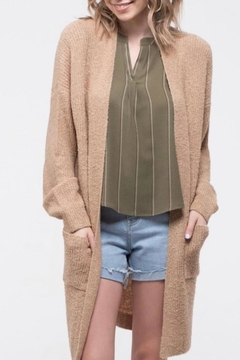 Blu Pepper Long Knit Cardigan - Product List Image