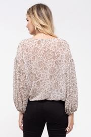Blu Pepper Mixed Floral Top - Back cropped