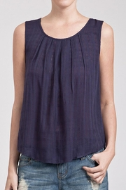 Blu Pepper Navy Blue Top - Product Mini Image