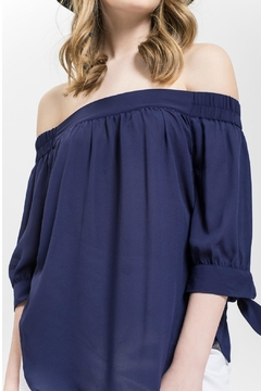 Blu Pepper Navy Off Shoulder - Alternate List Image
