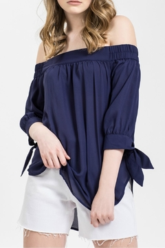 Blu Pepper Navy Off Shoulder - Product List Image