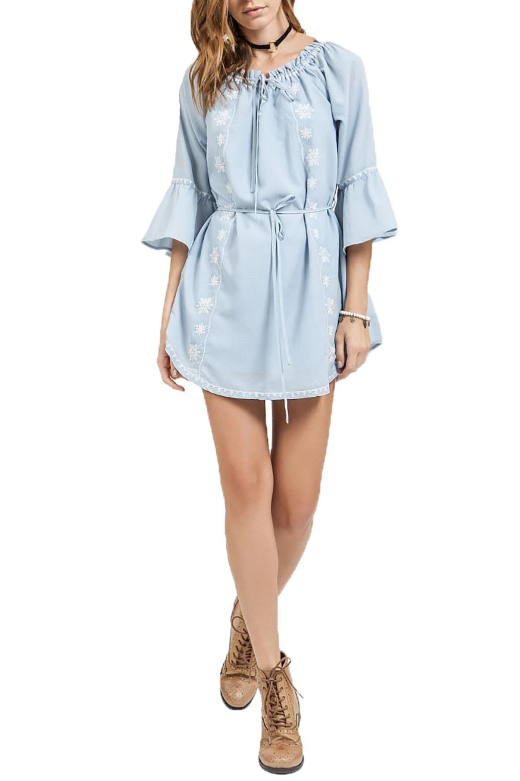 Blu Pepper Off Shoulder Dress - Main Image