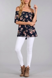 Blu Pepper Off Shoulder Floral Top - Product Mini Image
