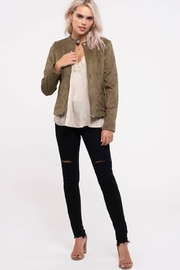Blu Pepper Olivelious Moto Jacket - Front cropped