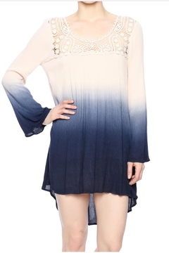 Blu Pepper Ombre  Crochet Dress - Product List Image