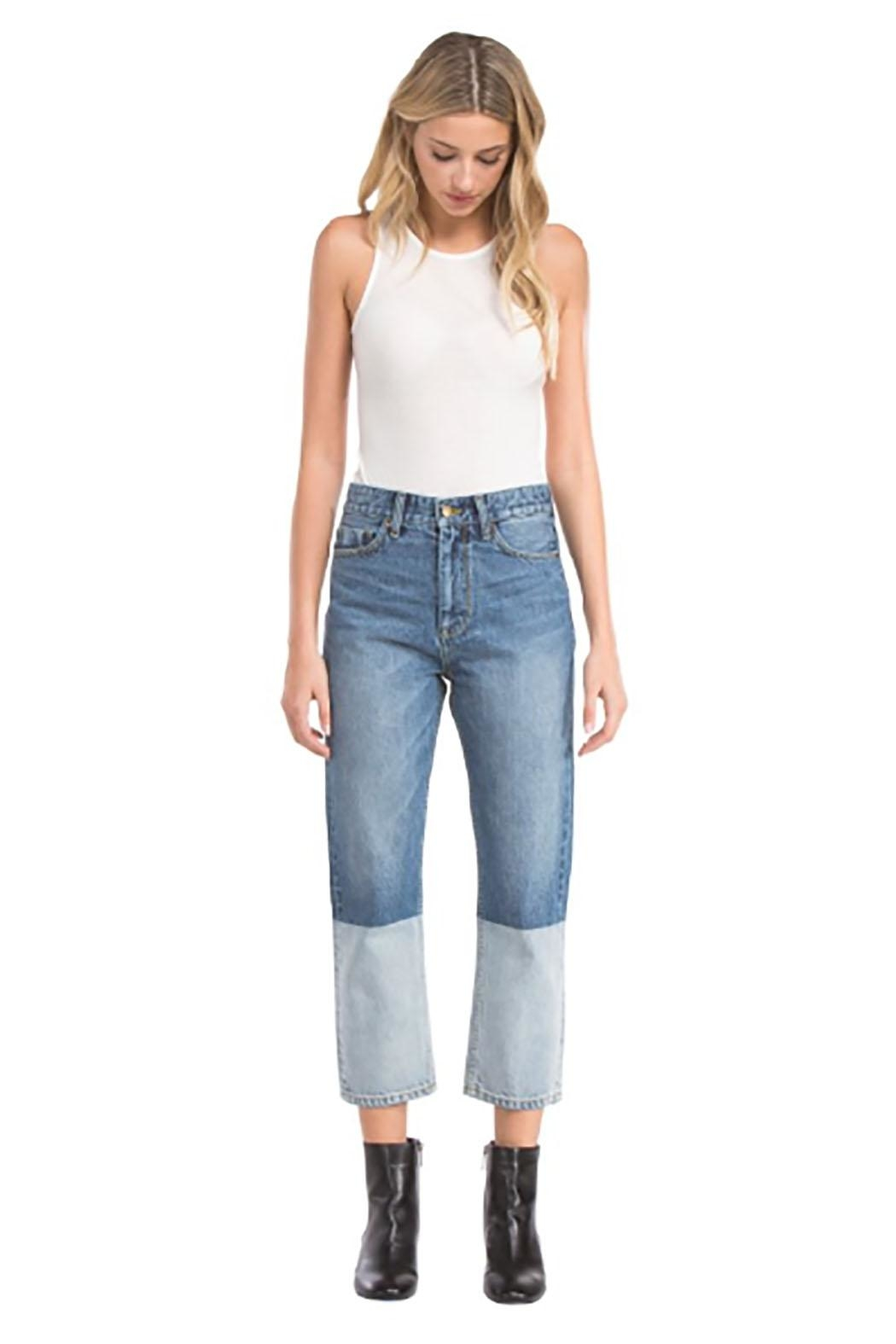 Blu Pepper Patchwork Denim Jean - Front Cropped Image