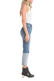 Blu Pepper Patchwork Denim Jean - Front full body