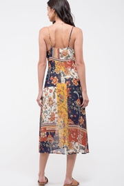 Blu Pepper Patchwork Floral Dress - Front full body