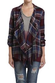 Blu Pepper Plaid Cardi - Product Mini Image