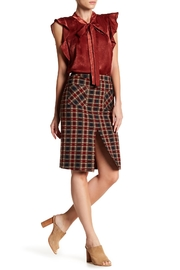 Blu Pepper Plaid Pencil Skirt - Product Mini Image