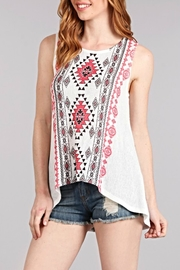 Blu Pepper Printed Pattern Top - Product Mini Image