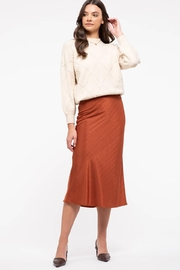 Blu Pepper Pumpkin Spice Midi Skirt - Product Mini Image