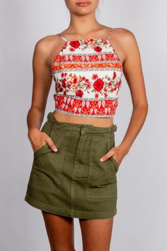 Blu Pepper Red-Print Tie-Halter Top - Product List Image