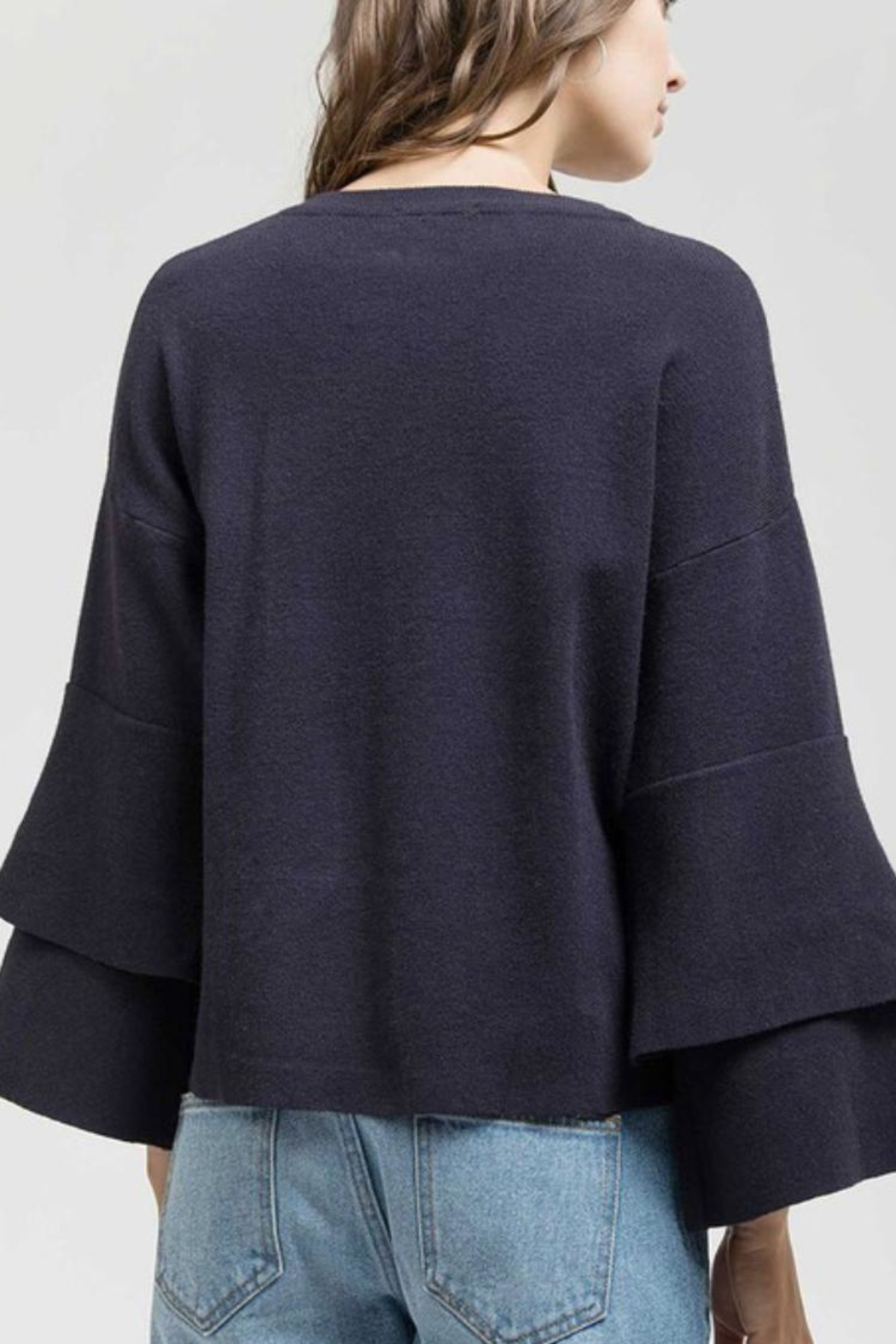 Blu Pepper Ruffle Sweater Top - Side Cropped Image