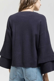 Blu Pepper Ruffle Sweater Top - Side cropped