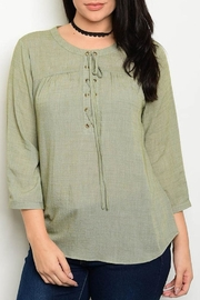 Blu Pepper Sage Lace Blouse - Product Mini Image