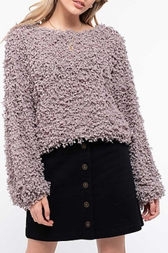 Blu Pepper Shaggy Popcorn Knit - Product List Image