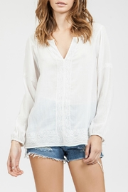 Blu Pepper Sheer Embroidered Top - Product Mini Image