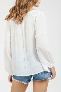 Blu Pepper Sheer Embroidered Top - Alternate List Image
