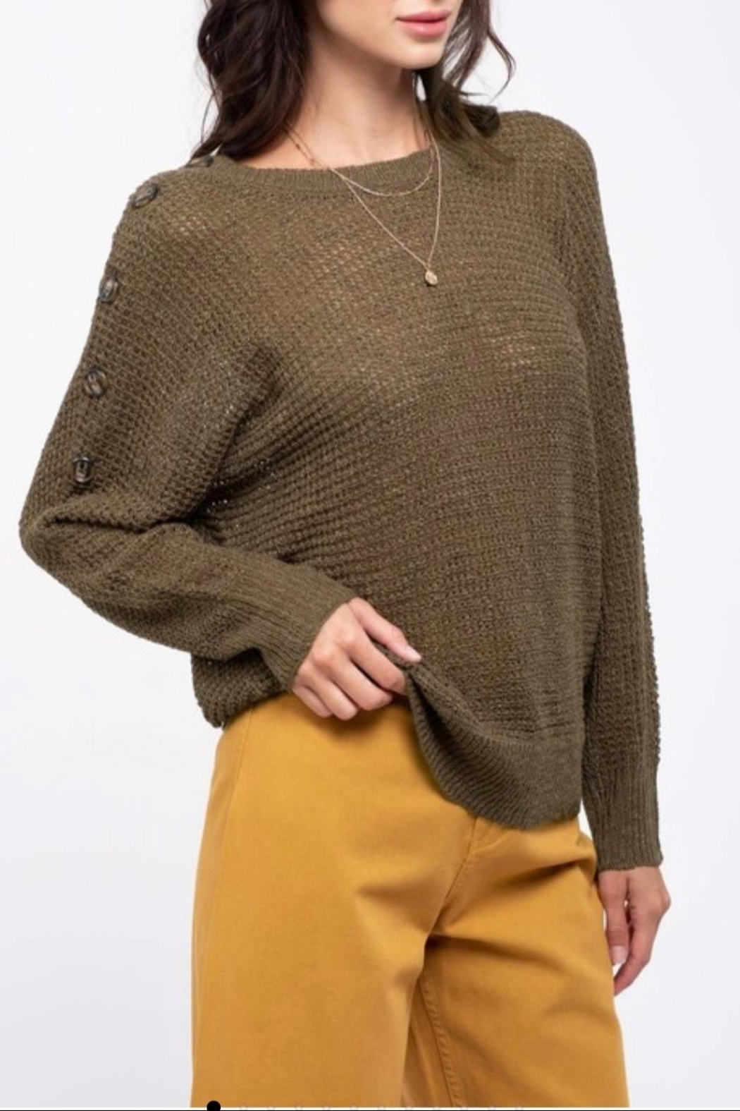 Blu Pepper Shoulder Button Sweater - Main Image