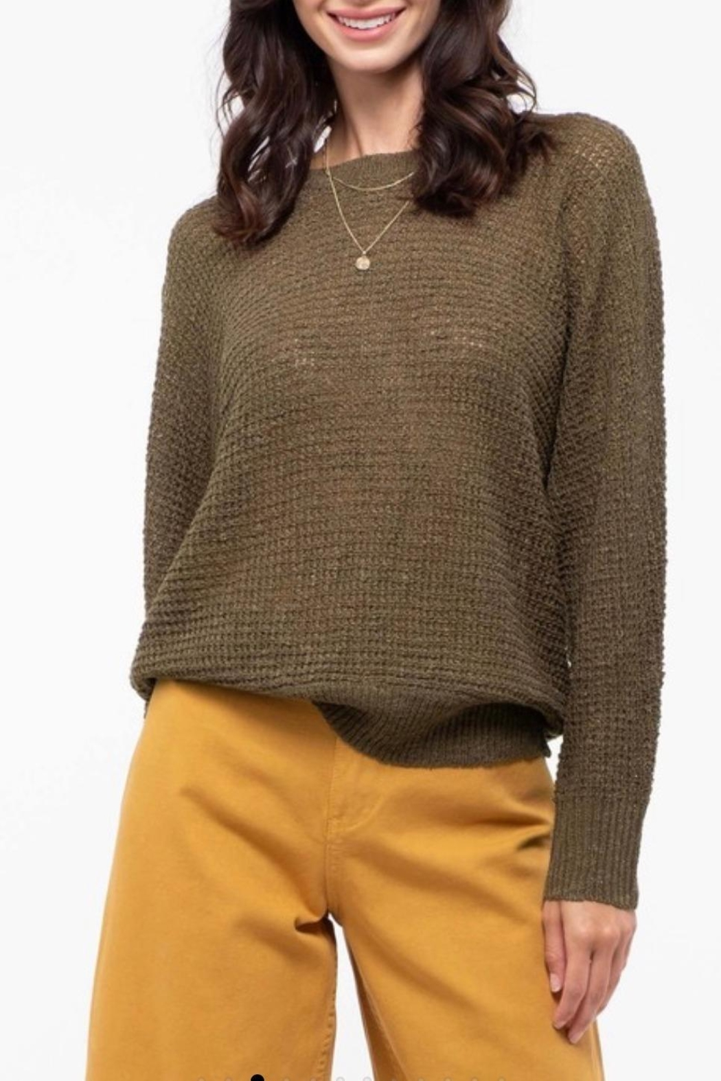 Blu Pepper Shoulder Button Sweater - Side Cropped Image