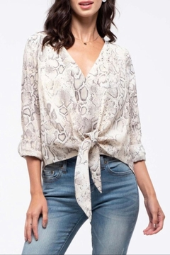 Blu Pepper Snake Print Top - Product List Image