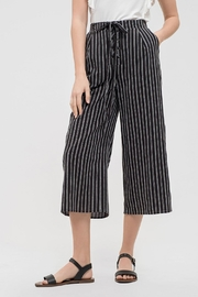 Blu Pepper Striped Drawstring Capris - Product Mini Image