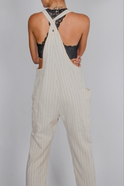 Blu Pepper Striped Overalls - Side cropped