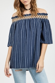 Blu Pepper Striped Tunic Top - Product Mini Image