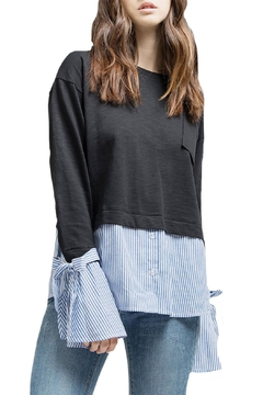 Blu Pepper Sweater Detail Top - Product List Image